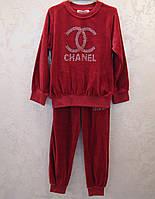 Велюровый костюм Chanel для девочек
