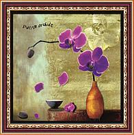 """Набор для рисования стразами """"Орхидея пурпурная"""""""