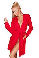 Красный халатик (вискоза) INES Red