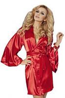 Красный атласный халатик кимоно CANDY Red