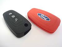 Чехол силиконовый для ключа зажигания Ford V1. Чехольчик для ключа Форд