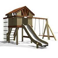 Площадки детские с домиком и горкой (480x470 )