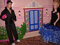 Одежда для кукол типа Барби, синее, Прием у принца