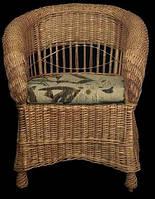 Кресло из лозы Киевлянка(набор мебели Киевлянка)
