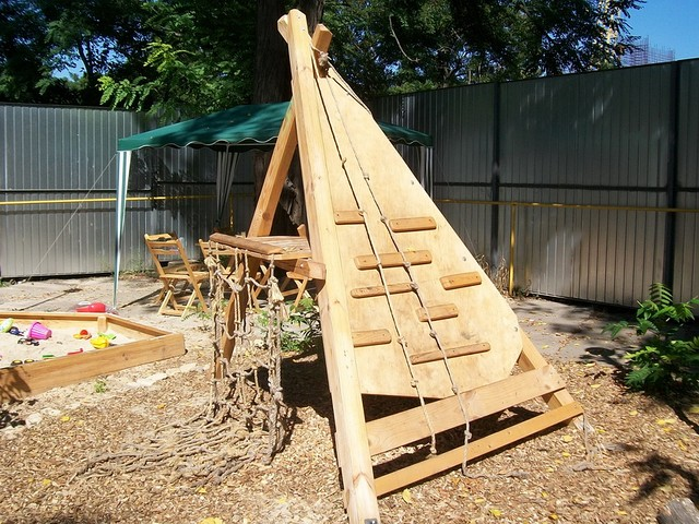 Идеи детских площадок из дерева своими руками 627