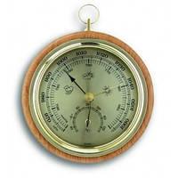 45100005B. Барометр TFA с термометром, бук, 120 мм, d=105 мм