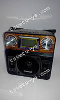 Радио Kemai MD-2808UL, display, USB/FM/AM SW1-3 Band, Функция записи, часы будильник, 3,5 mm, AUX, AC/DC