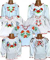 Нарядная вышиванка для девочки с длинным рукавом