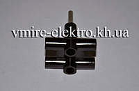 Тройник электрический 6 А Lxl 114 черный