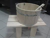 Подставка(липа) для ведра в сауне