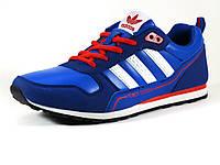 Кроссовки спортивные мужские Adidas Power Design синие/ замшевые вставки, фото 1