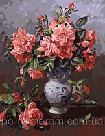 Набор для раскраски картин по номерам Menglei MG1053 Розовый букет 40 х 50 см 950 цветы