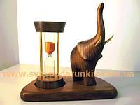 Песочные часы со статуэткой Слон, стильный сувенир