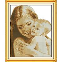 """Вышивка крестиком """"Мать и дитя"""""""