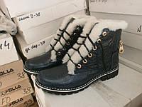Женские замшевые ботинки на овчине р.36-41