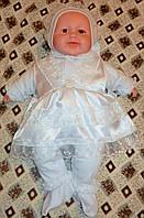 Костюм- комплект крестильный нарядный  для девочек.