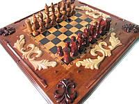 Шахматы-нарды настольные ручной работы