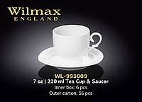 Чашка чайная с блюдцем (Wilmax) WL-993009
