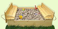 Песочница ЗАБАВАс лавочками-крышкой