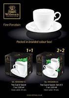 Чашка чайная с блюдцем 220 мл Wilmax Color WL-993009 R/1C