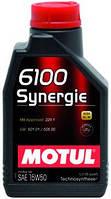 Моторное масло синтетика 15W50 Motul 6100 Synergie SAE 15W-50 (1л)