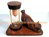 Сувенир, песочные часы со скульптурой Кошка