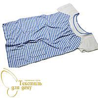 Платье домашнее, полоса, голубой