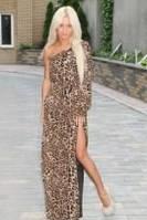 Платье в пол леопардовое