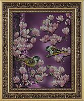Набор для вышивки бисером Залит лучами розового цвета КИТ 41013
