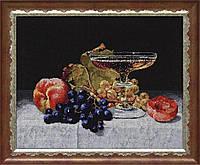 Набор для вышивки нитками на канве Дары осени КИТ 10508