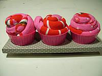 Носки на подарок в виде кекса  набор 3 штуки
