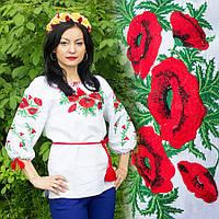 Блуза вышиванка Маки украинские