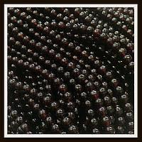 Бусины шар 6 мм цвет натуральный гранат (140-145 шт в нитке)