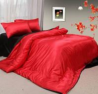 Комплект постельного белья Атласное красно черное