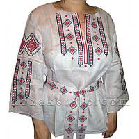 Традиційна жіноча вишиванка лілова