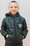 Курточка на мальчика весна-осень темно-зеленая, фото 1