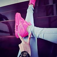 Кроссовки женские Nike Air Max 90 розовый Pink neon копия