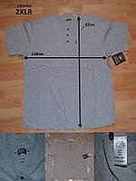 """Мужские футболки баталы от """"Кеу"""", серые очень большие размеры 2XLR, XLR, LR, MR"""