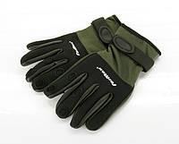 FORMAX Перчатки неопреновые (откр. три пальца) черн. верх - M