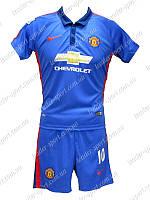 Детская клубная футбольная форма Manchester United Rooney 2015 синяя р-р М (170см)