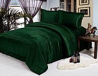 Комплект постельного белья Атласное темно зеленое