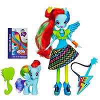 My Little Pony Набор Кукла Радуга Дэш и пони Девушки Эквестрии Радужный рок