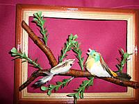 Декор для дома - Рамка с птичками на дереве