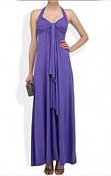 Женское фиолетовое платье в пол
