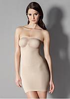Утягивающее платье без бретелей
