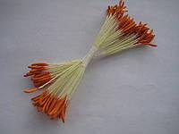 Тычинки для цветов острые оранжевые 25шт.(код 00286)