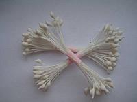 Тычинки для цветов белые кругло-остро 25шт.(код 00481)