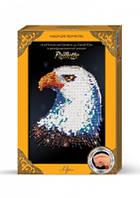 """Картина-мозайка из пайеток в декорированной рамке """"Орел"""""""