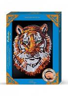 """Картина-мозайка из пайеток в декорированной рамке """"Тигр"""""""