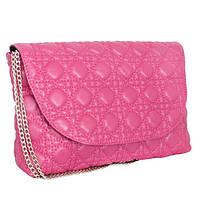 Сумка-клатч женская розовая из кожзама Betty Pretty, фото 1